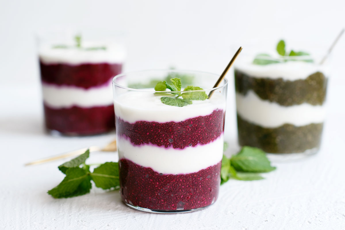 Healthy Chia Seed Pudding Parfait Recipe - Easy Overnight Breakfast Idea