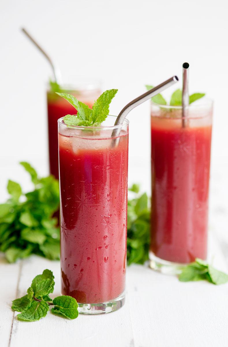 Watermelon Mint Juice Recipe + Learning Juicing