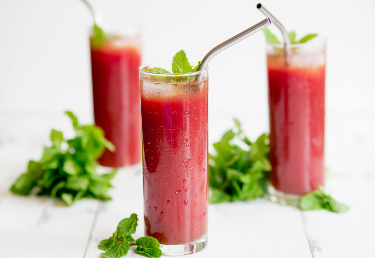 Watermelon Mint Juice Recipe + Learning Juicing