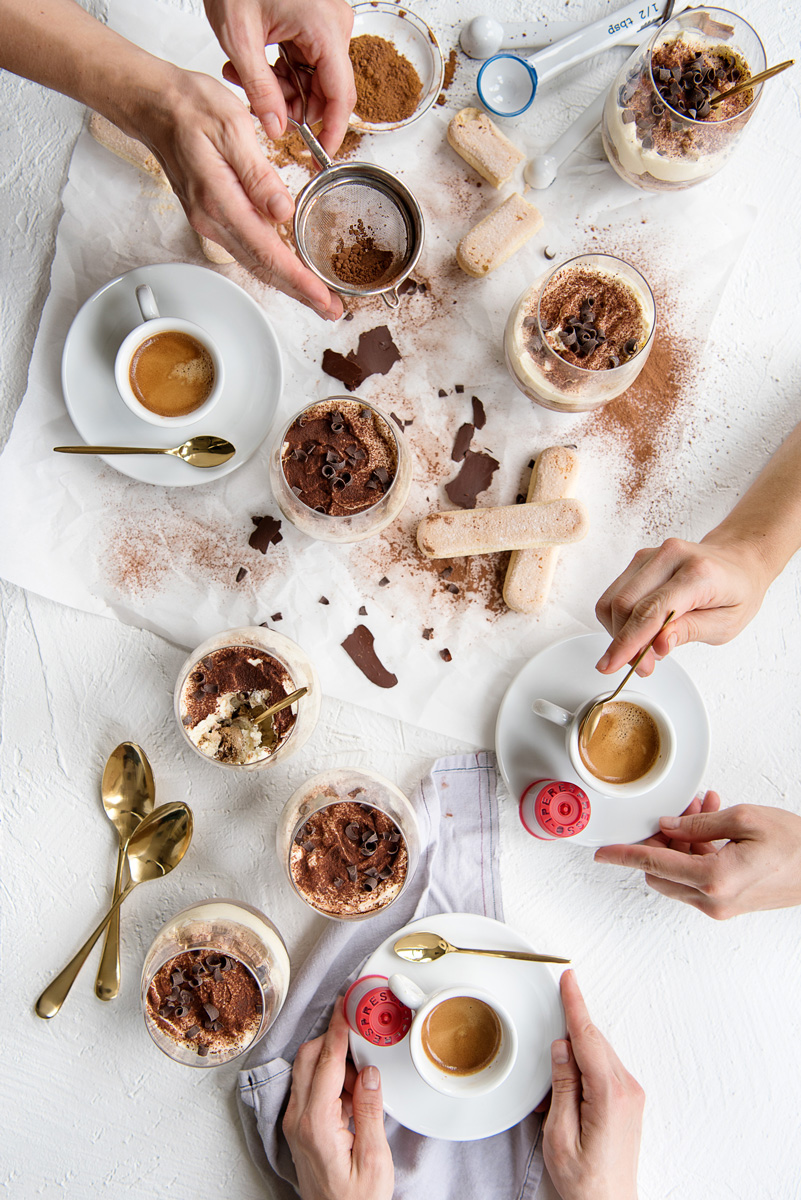 Authentic Tiramisu Recipe - Italian Dessert with Individual Servings