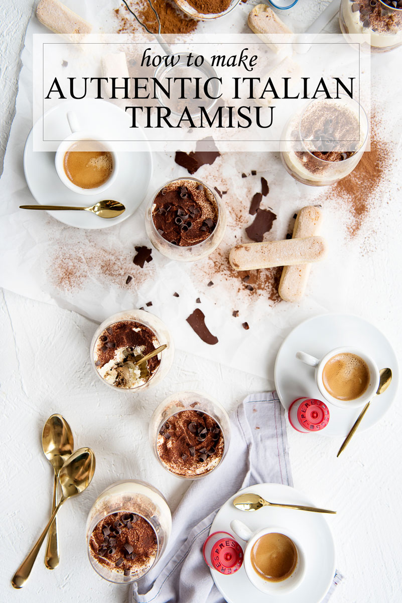 Authentic Tiramisu Recipe - Italian Dessert with Individual Servings