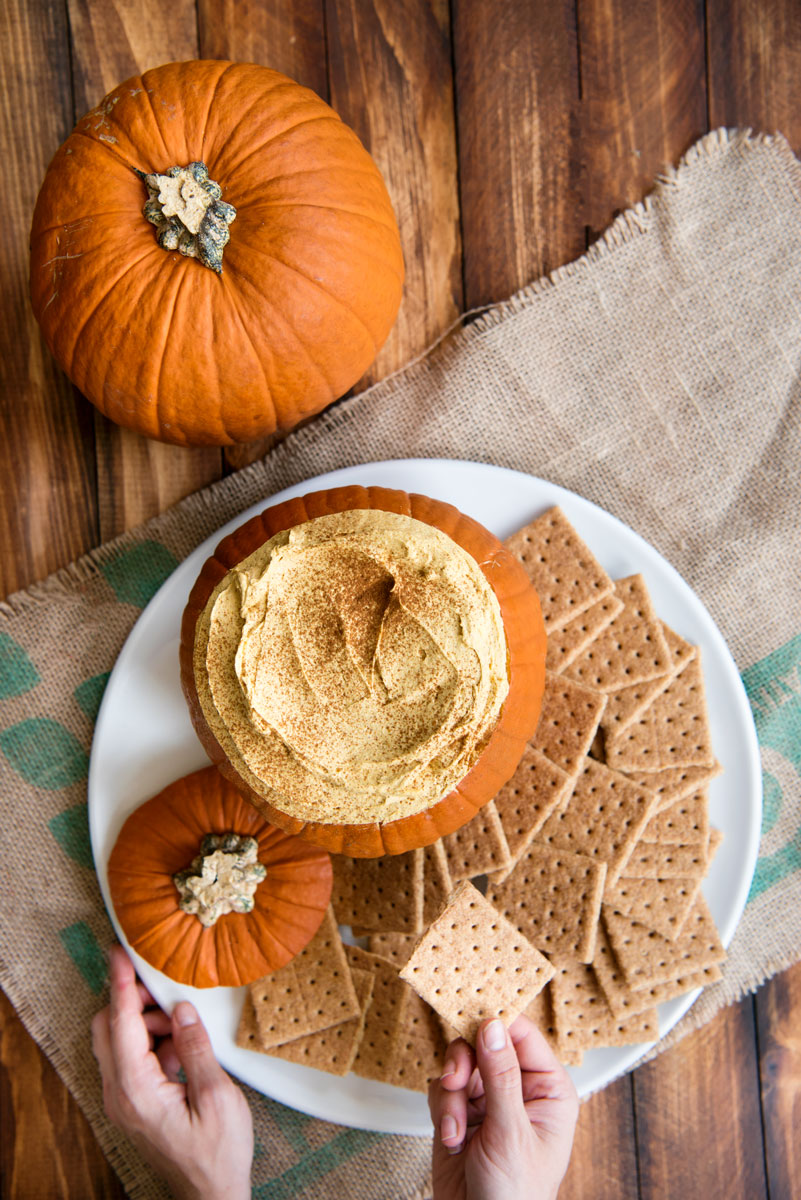 Easy Pumpkin Fluff Dip Recipe Served in a Pumpkin