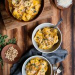 Vegetarian Butternut Squash Pasta Sauce with Herbs and Pine Nuts