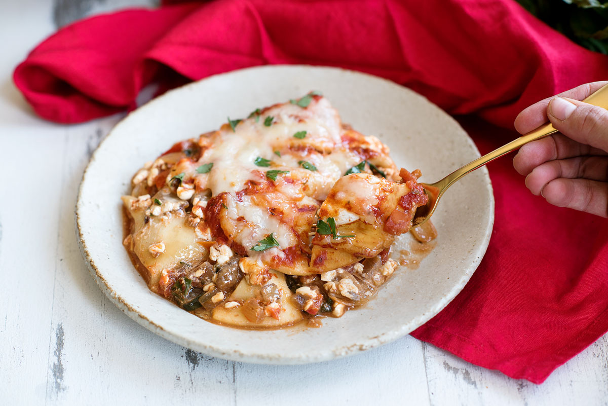 Easy One Pot Skillet Lasagna with Pierogies Recipe