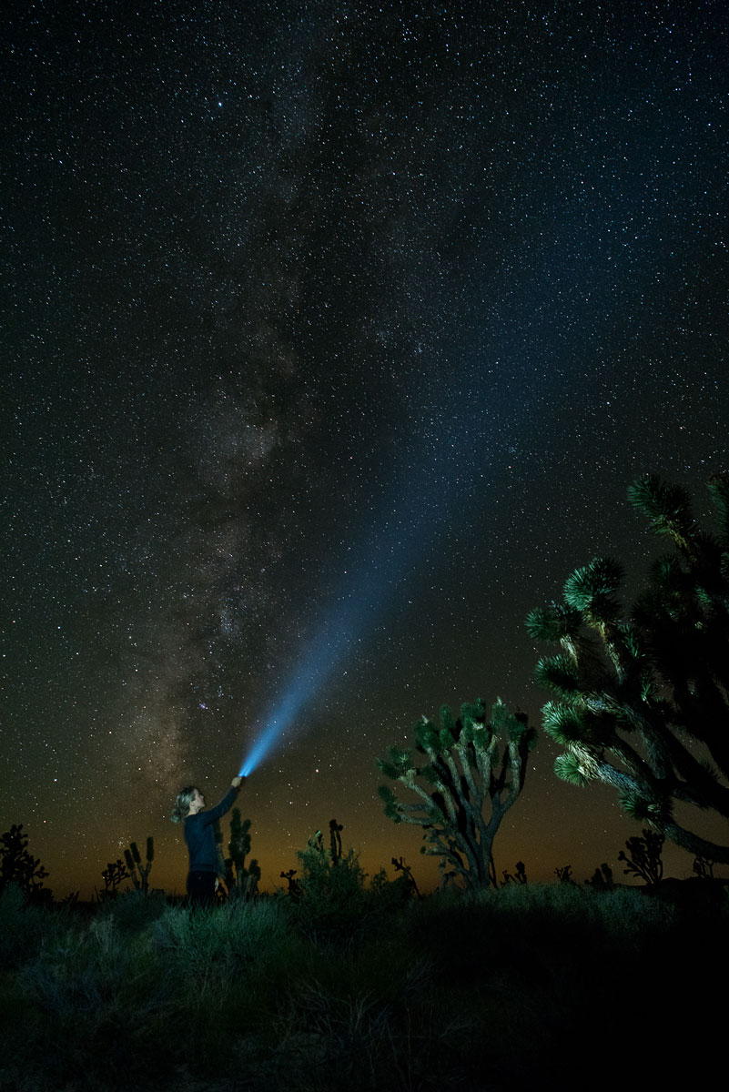 Mojave Desert Preserve Long Exposure Star Photography