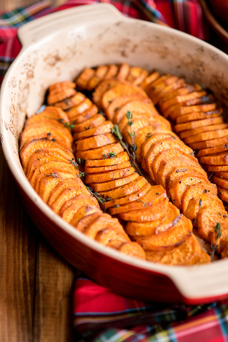 Healthy Roasted Oven Baked Sweet Potatoes Recipe