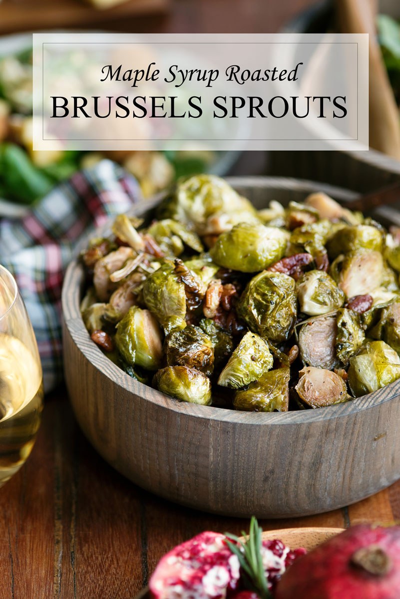 Vegan Thanksgiving Side Dish Recipe - Maple Syrup Roasted Brussels Sprouts