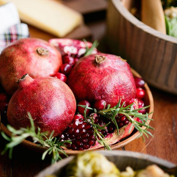 Last-Minute Holiday Centerpiece with Pomegranates