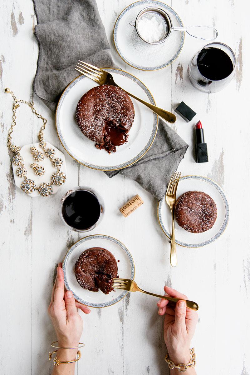 Molten Chocolate Lava Cake Recipe - Valentine's Day Dessert for Two