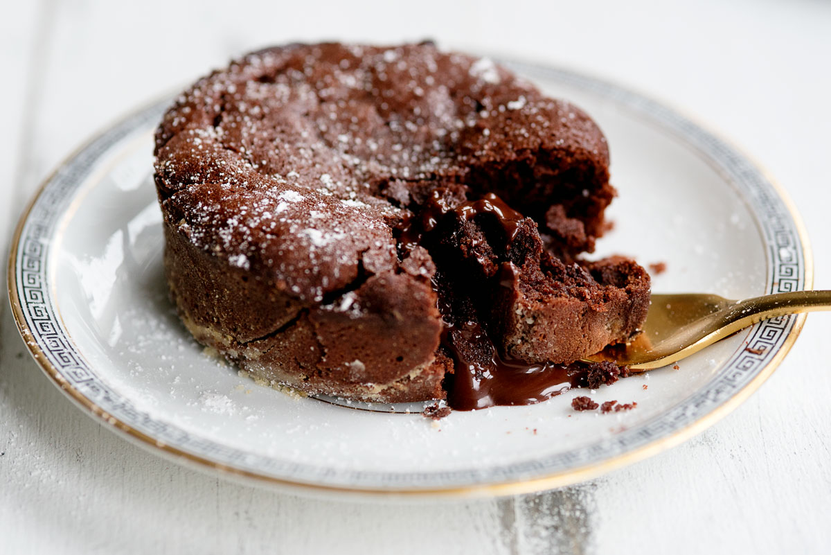 Molten Chocolate Lava Cake Recipe - Valentine's Day Dessert for Two