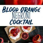 Blood Orange Negroni Cocktail Recipe - Unique Variant