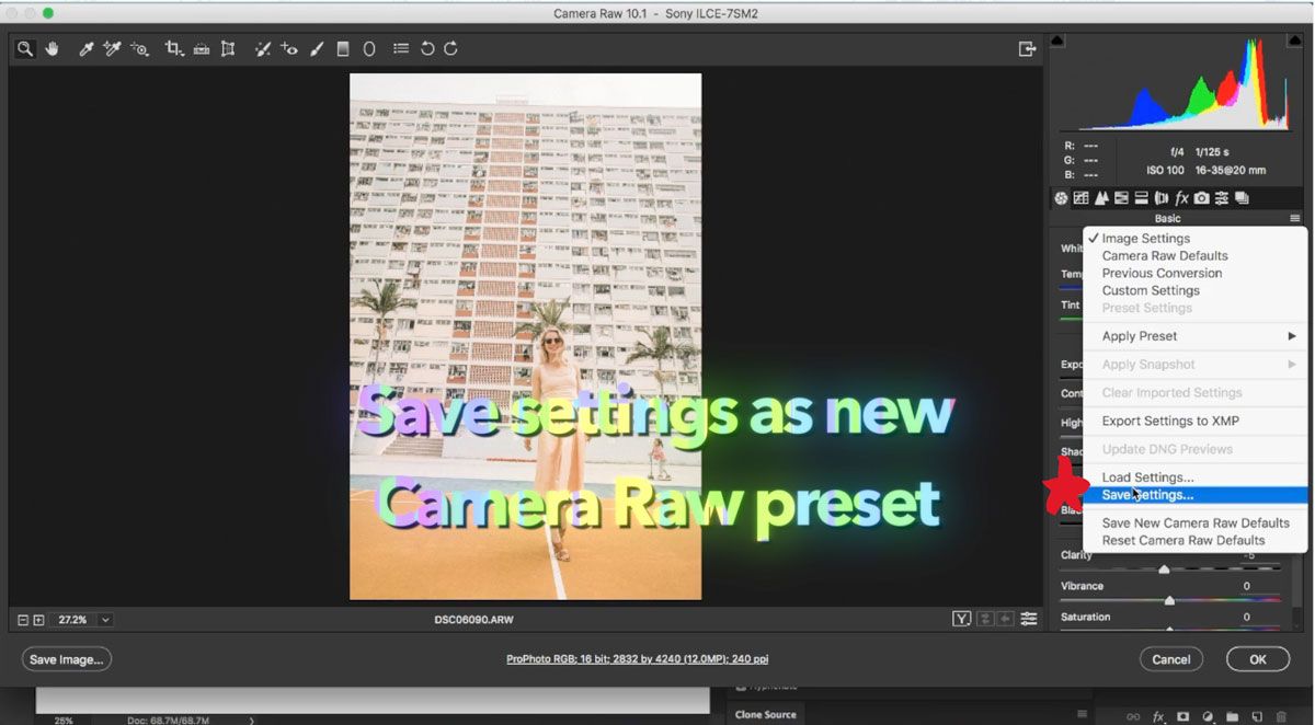 How to Use Photoshop Actions in Camera Raw
