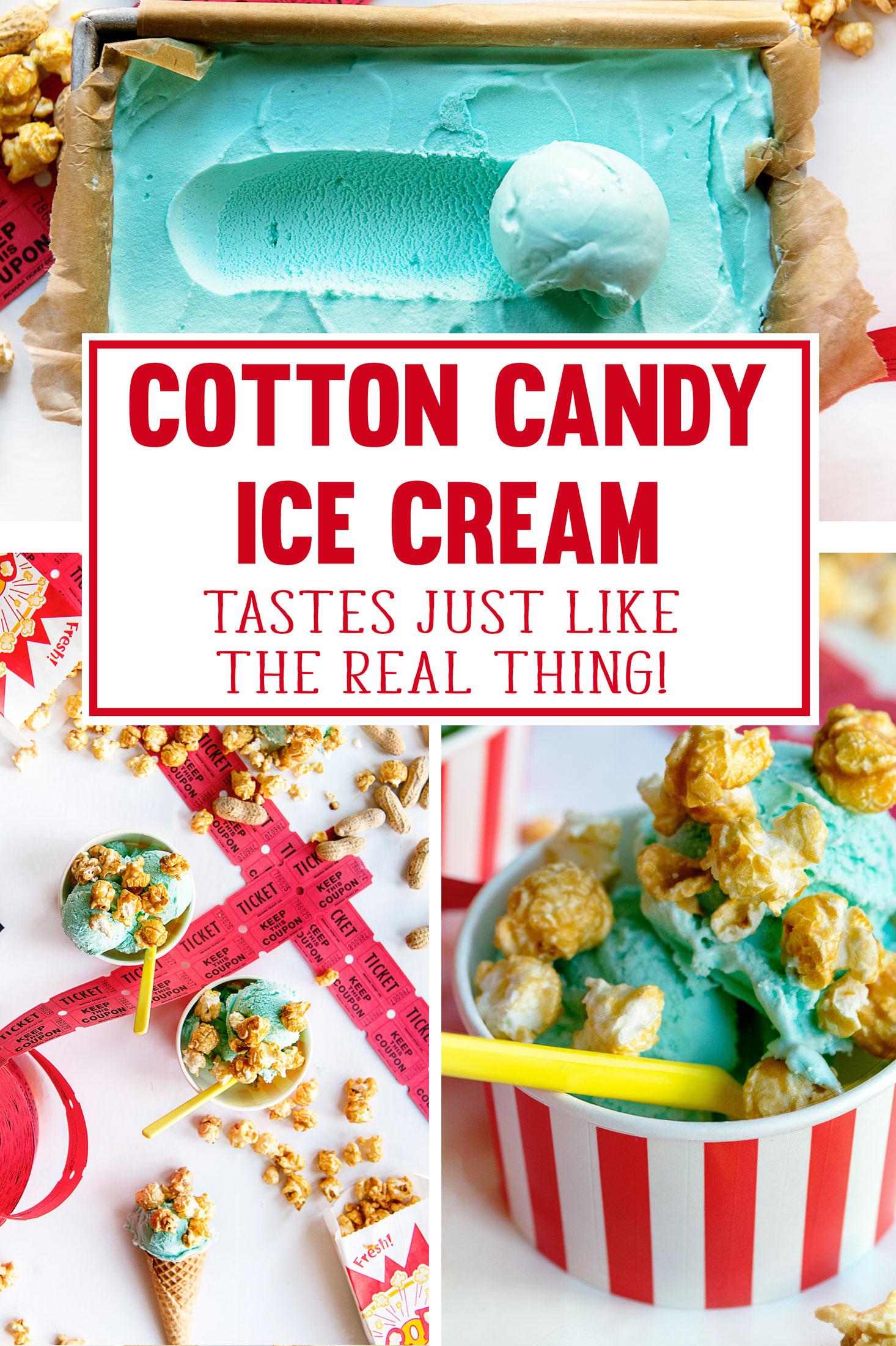 Circus Party Theme Ideas - Cotton Candy Ice Cream Recipe