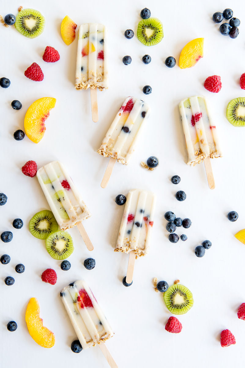 Vegan Popsicles recipe with Almond Milk & Fruit