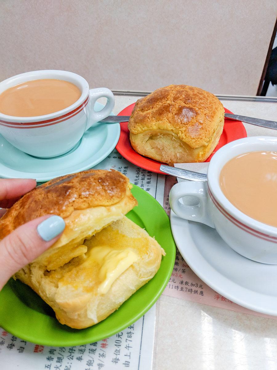 Kam Fung Cafe Egg Tarts & Pineapple Buns Hong Kong