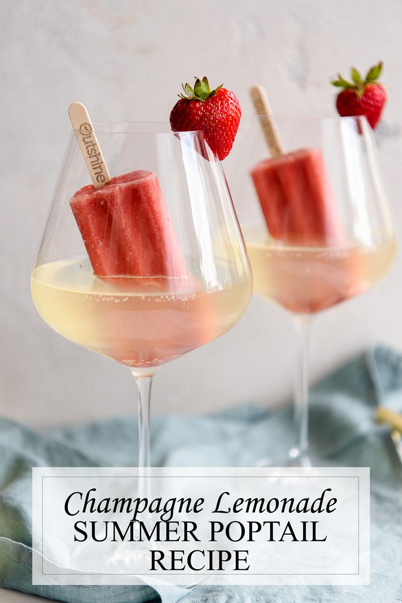 Champagne Lemonade Summer Cocktail Recipe