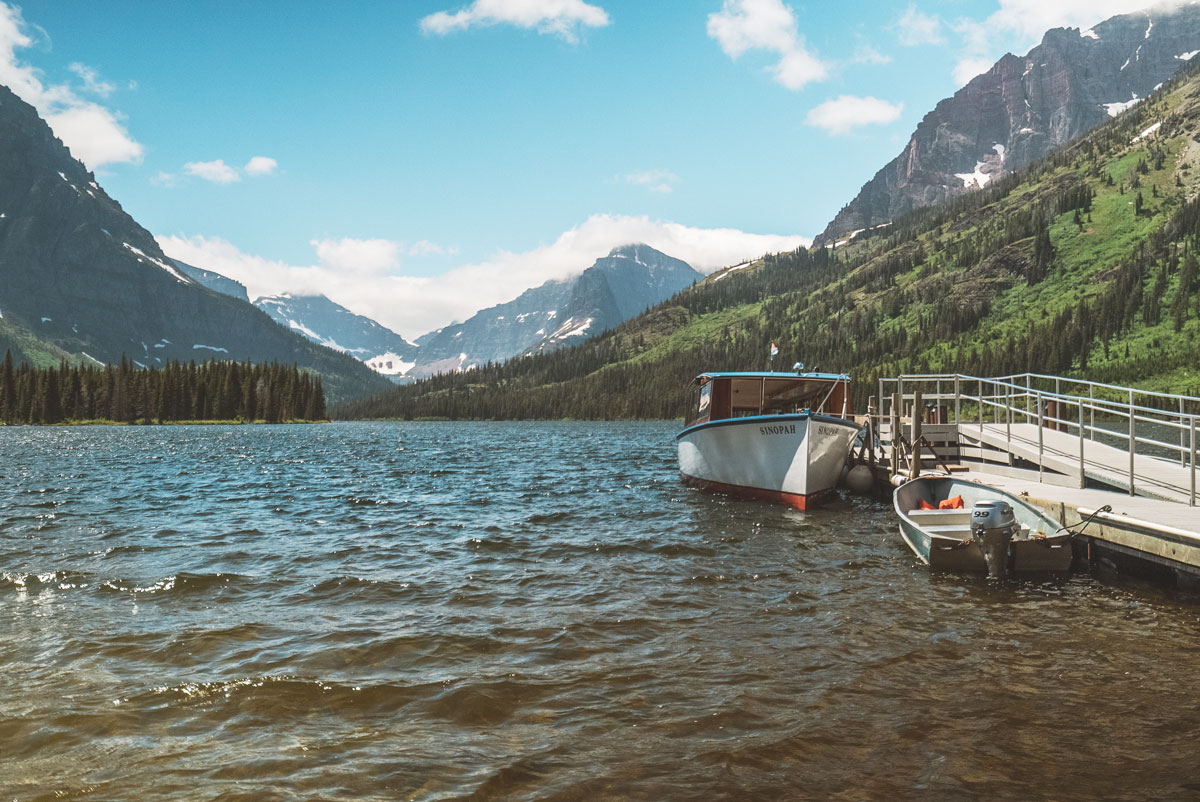 Two Medicine Lake Historic Boat Ride Glacier National Park Montana