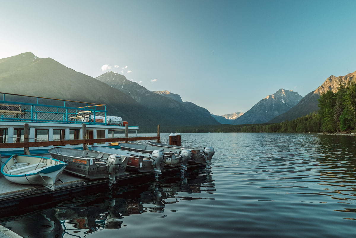 McDonald Lake Historic Boat Ride Glacier National Park Montana