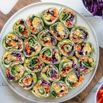 Rainbow Tortilla Pinwheels Recipe - Healthy Vegetarian Appetizer