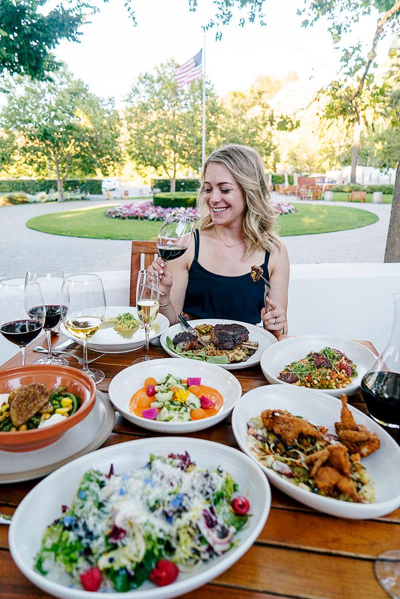 Best Farm Table Restaurant Northern California Wente Garden
