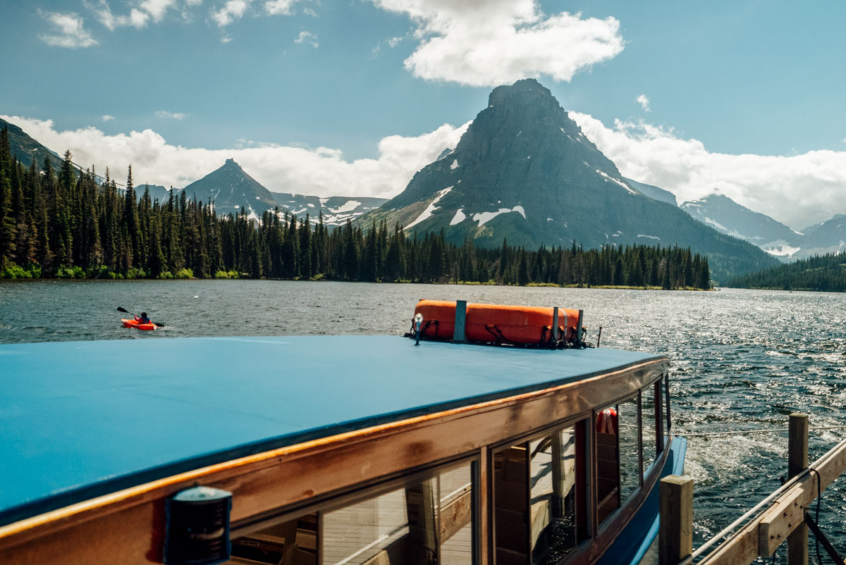 Two medicine Historic Boat Ride Glacier National Park