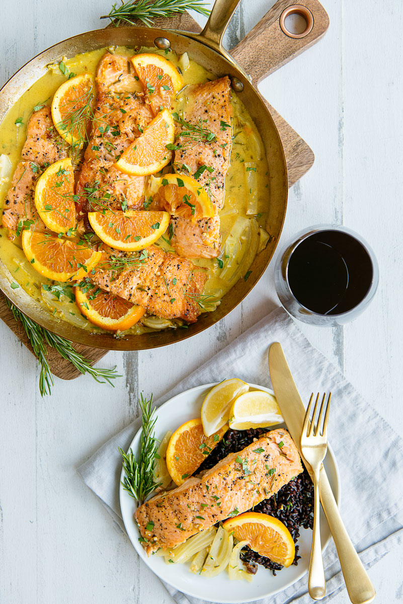 Healthy Easy Salmon Recipe with Orange & Fennel