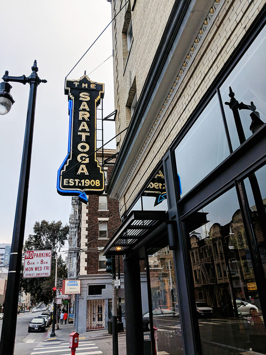 Saratoga Restaurant - Where to Eat in San Francisco, CA Tenderloin Neighborhood