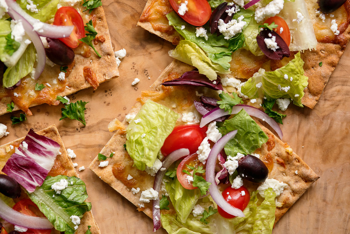 Healthy Flatbread Pizza Recipe Easy Appetizer Idea