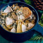 Easy Holiday Appetizer - Cheesy Spinach Artichoke Dip Recipe with Brie Cheese