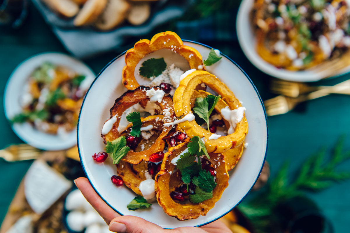 Easy Holiday Side Dish - Roasted Delicata Squash Recipe