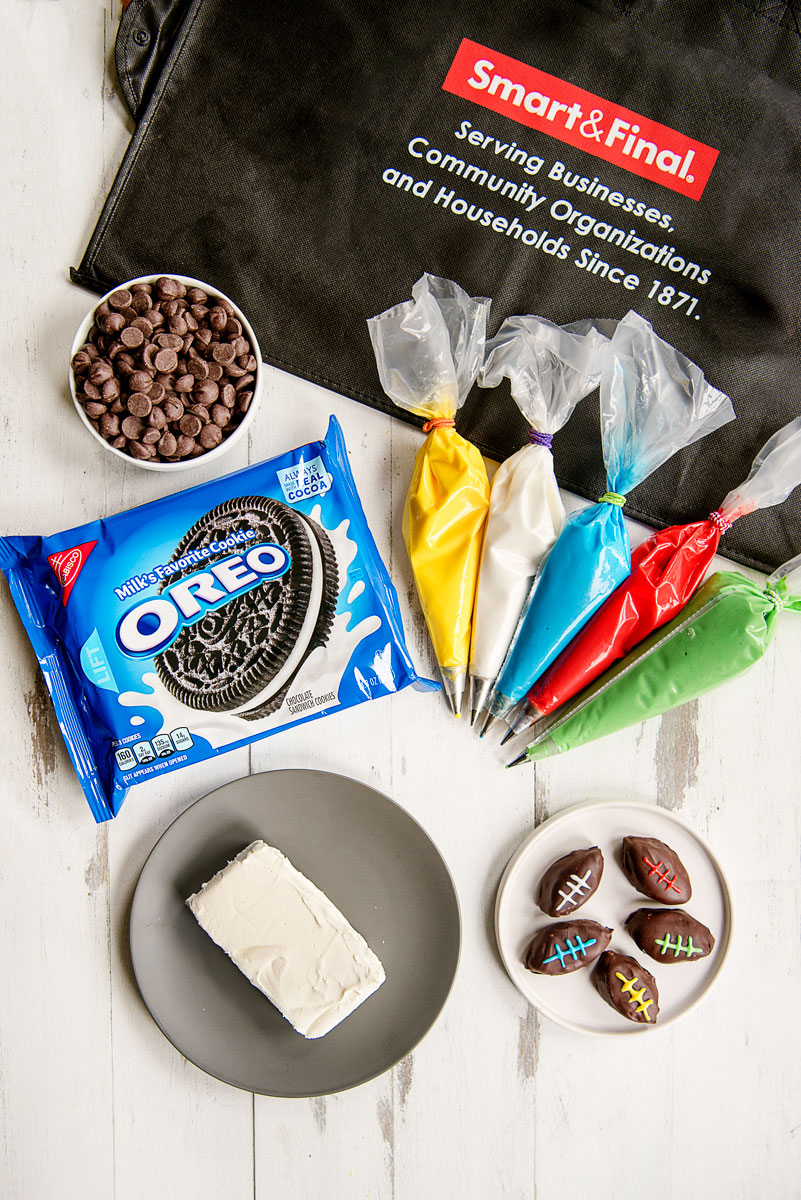 Superbowl Party Ideas - Oreo Footballs Shaped Snacks