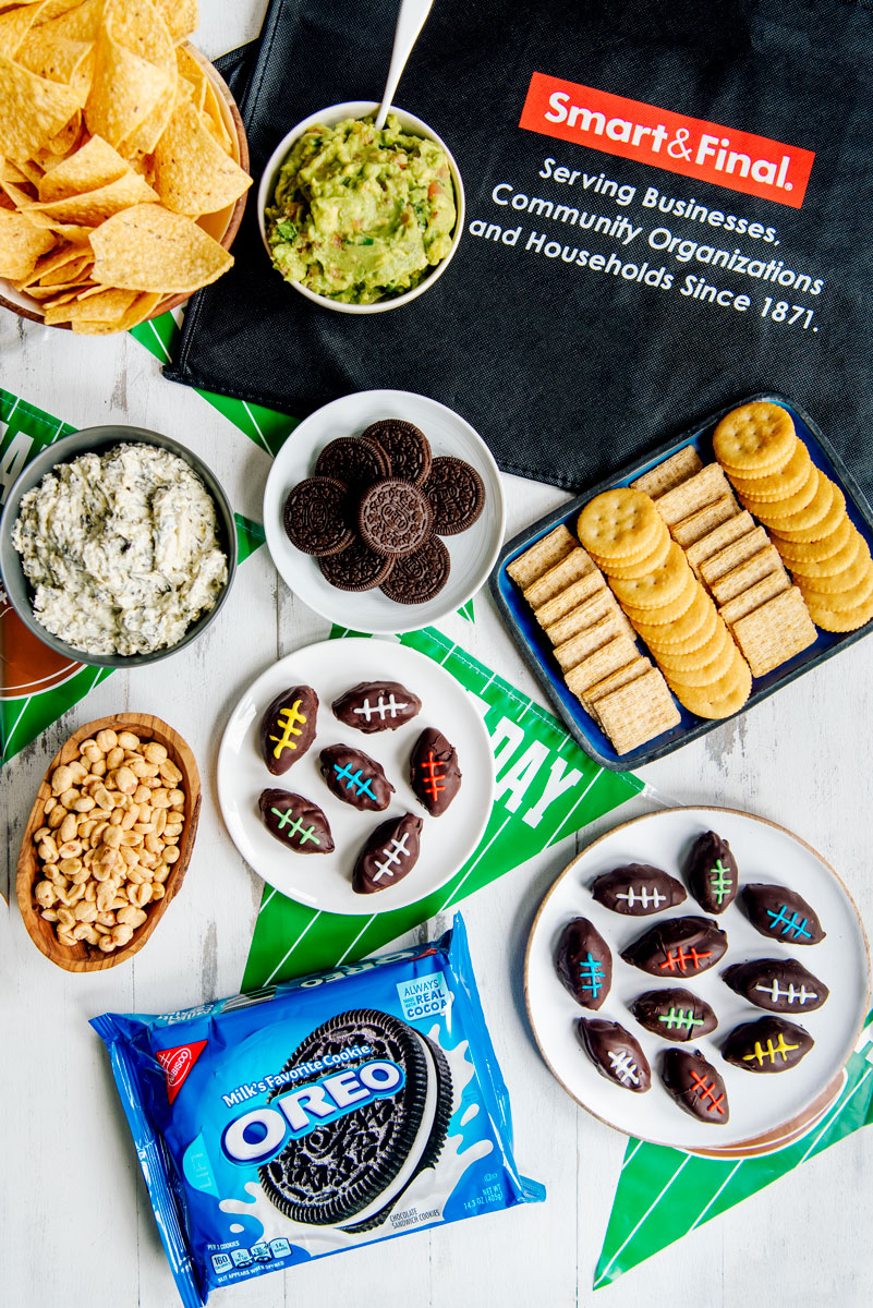 Superbowl Party Food Ideas - Oreo Footballs Shaped Snacks