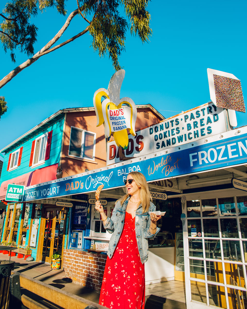 What to Do Orange County Travel Guide - Dads Frozen Bananas Newport Beach