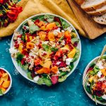 Winter Rainbow Salad - Fresh Beet and Roasted Cauliflower Salad Recipe with Avocado and Tomatoes