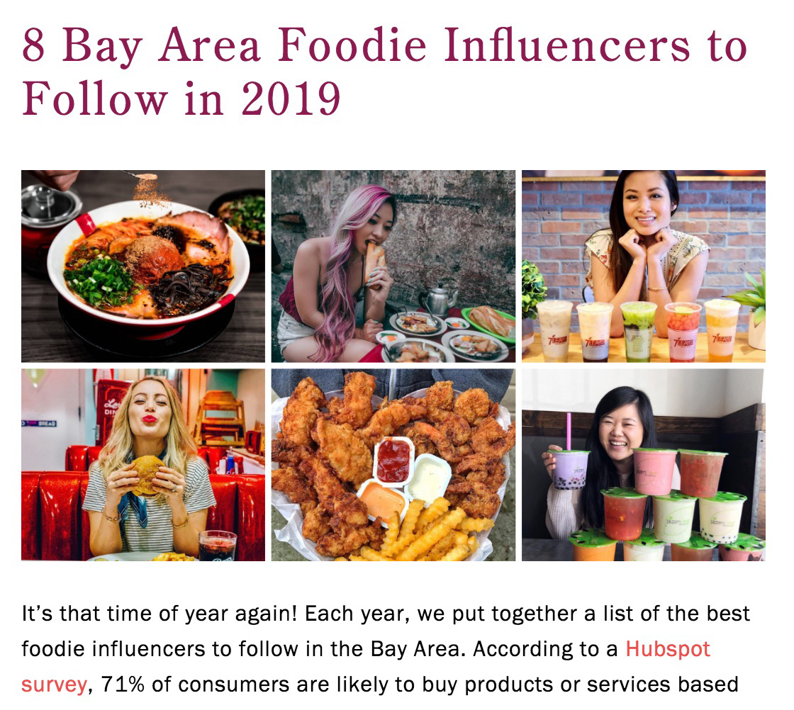 Best San Francisco Foodie Influencers on Instagram