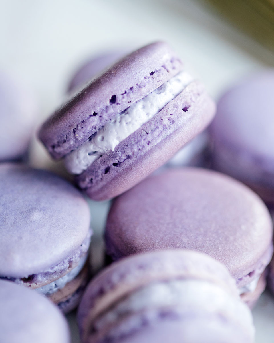 Lavender French Macarons Recipe with Lavender Buttercream Frosting Filling