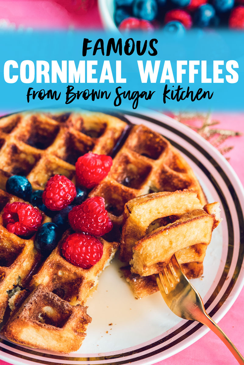 Thick Southern Cornmeal Waffles Recipe - Tanya Holland Brown Sugar Kitchen
