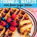 Thick Southern Cornmeal Waffles Recipe - Tanya Holland Brown Sugar Kitchen