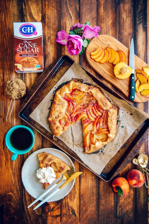 How to Make a Brown Sugar Peach Galette Rustic Pie Recipe