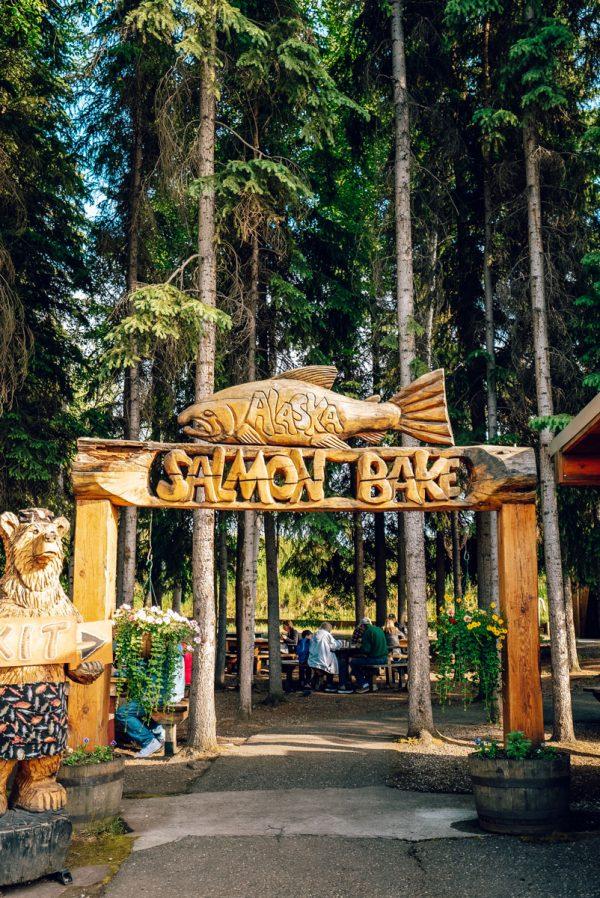 All You Can Eat Salmon Bake Pioneer Park Fairbanks, Alaska