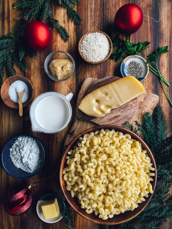 Ingredients for Mac and Cheese Bites Recipe with Jarlsberg Cheese
