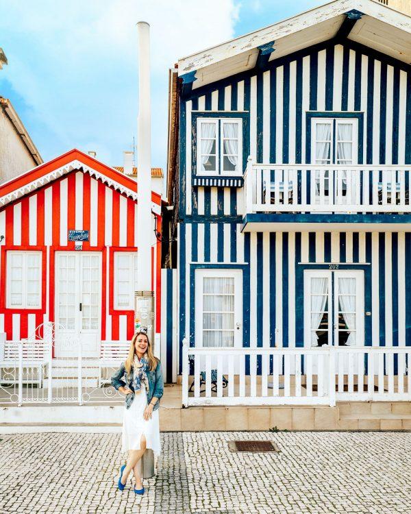Costa Nova Portugal Striped Houses