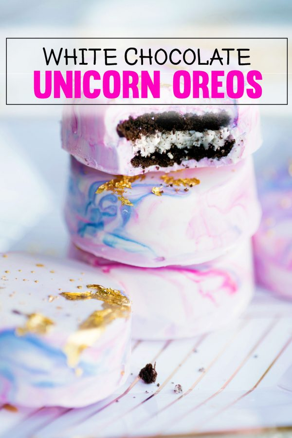 How to Make White Chocolate Covered Unicorn Oreos