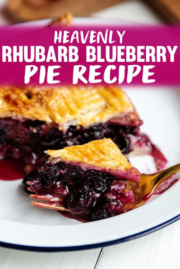 Rhubarb Blueberry Pie Recipe