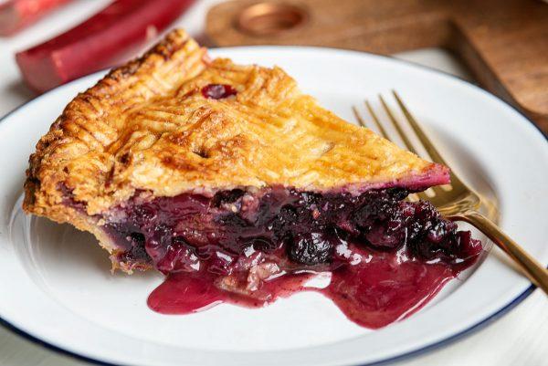 Rhubarb Blueberry Pie Recipe