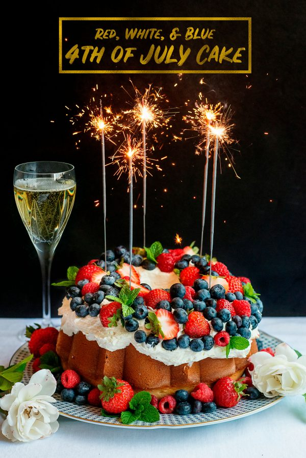 Red, White, Blue Berry Cake Recipe for 4th July