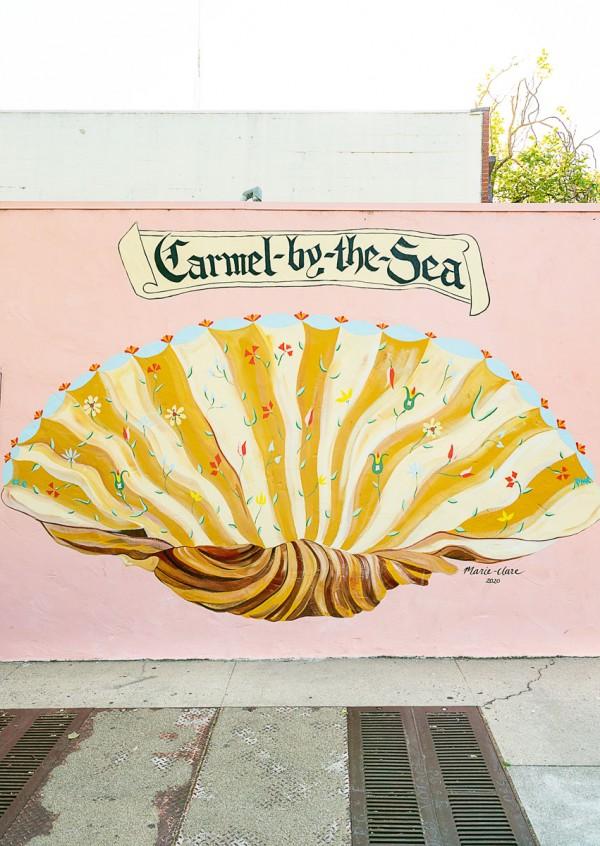 Carmel by the Sea Shell Mural