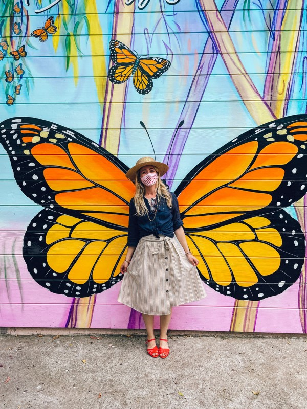 Butterfly Mural at Pacific Grove Monarch Sanctuary